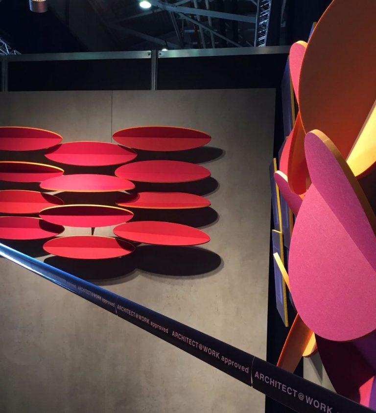 Bunte schallabsorbierende Wandmodule der Designmanufaktur MOVIS