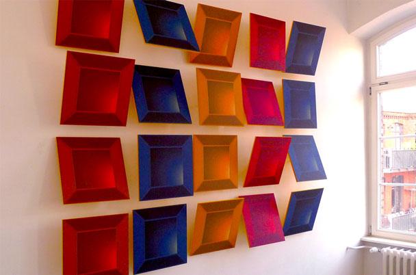 Linie Cubes für optimale Akustik im Raum.