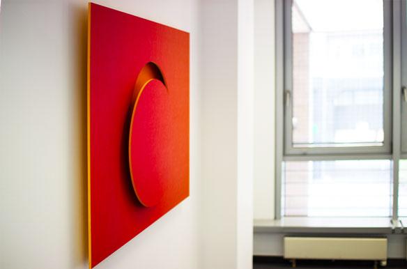 Die freundlichen Farben von MOVIS SunSet erschaffen eine optimale Arbeitsatmosphäre.